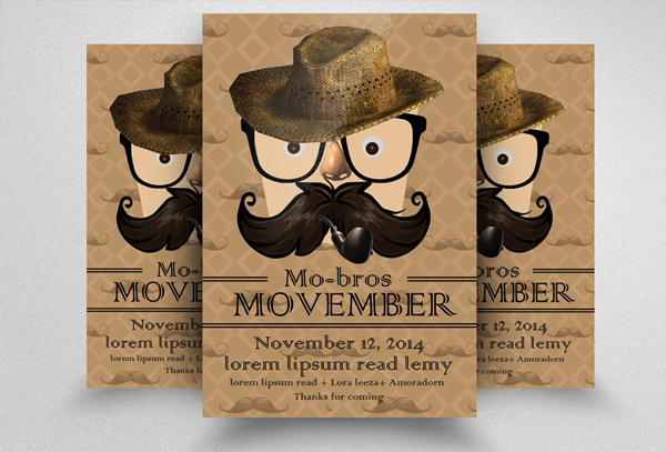 Movember Flyer Contest Template