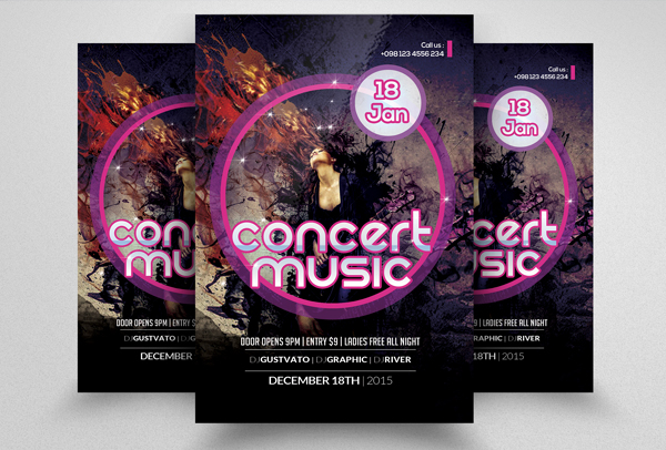 Music Band Concert Flyer Template