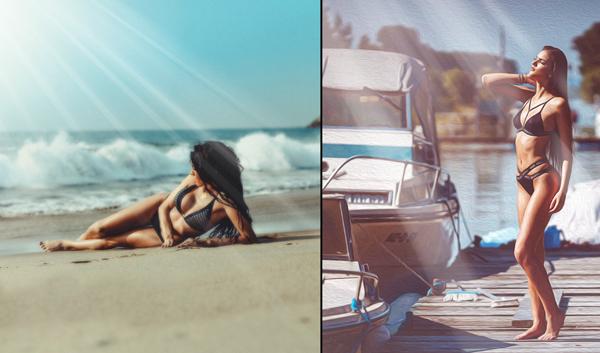 Natural Sun Light Photo Overlays