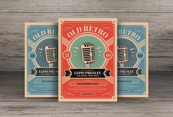 Old Retro Music Flyer
