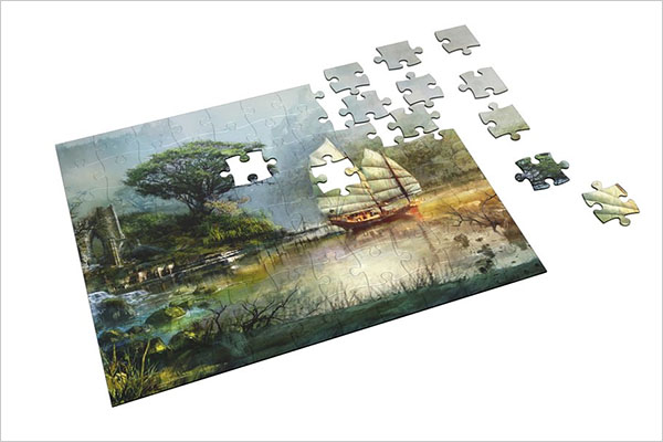 PSD Puzzle Mockup Template
