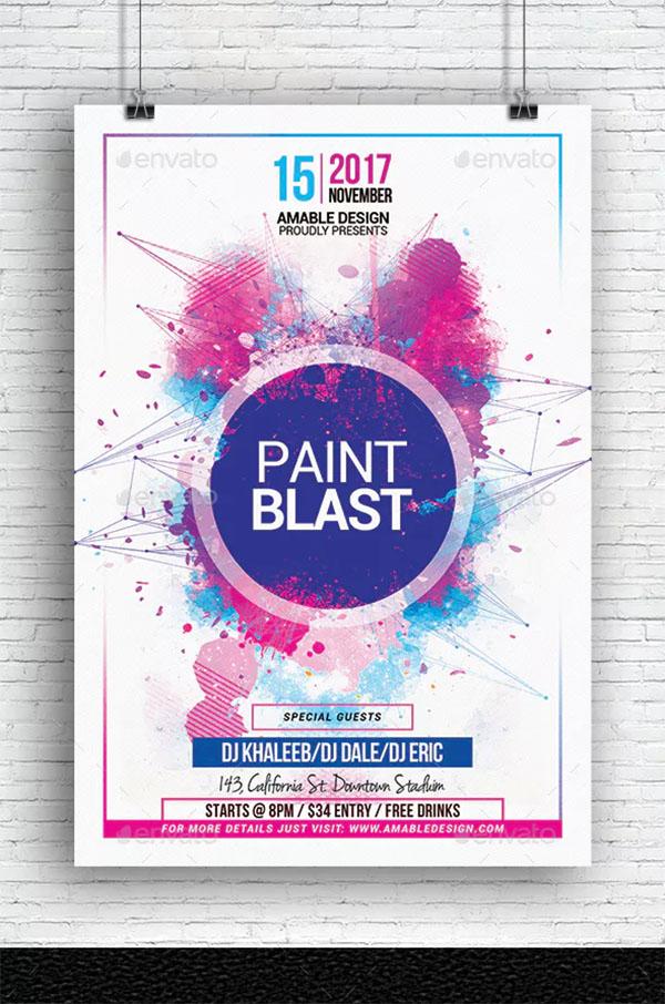 Paint Blast Party Flyer Template
