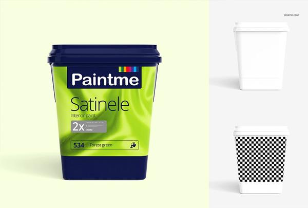 Paint Bucket Mockup Set