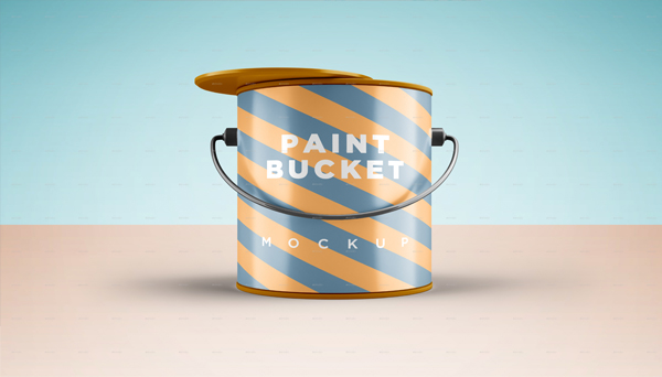 Paint Bucket Mockup for Photoshop