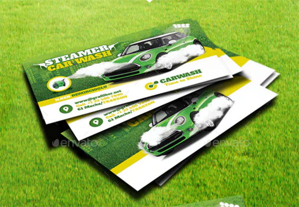 Paint Car Wash Business Card Templates