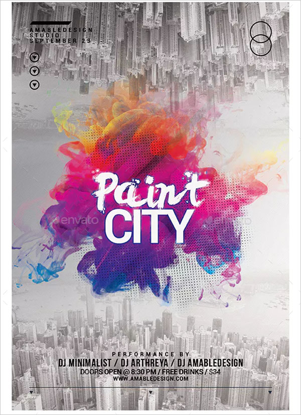 Paint City Flyer and Poster