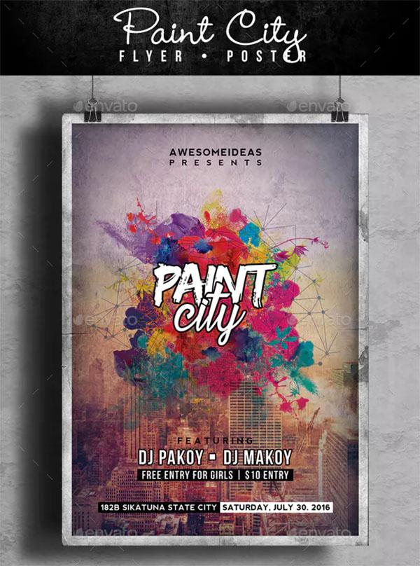 Paint City Party Flyer