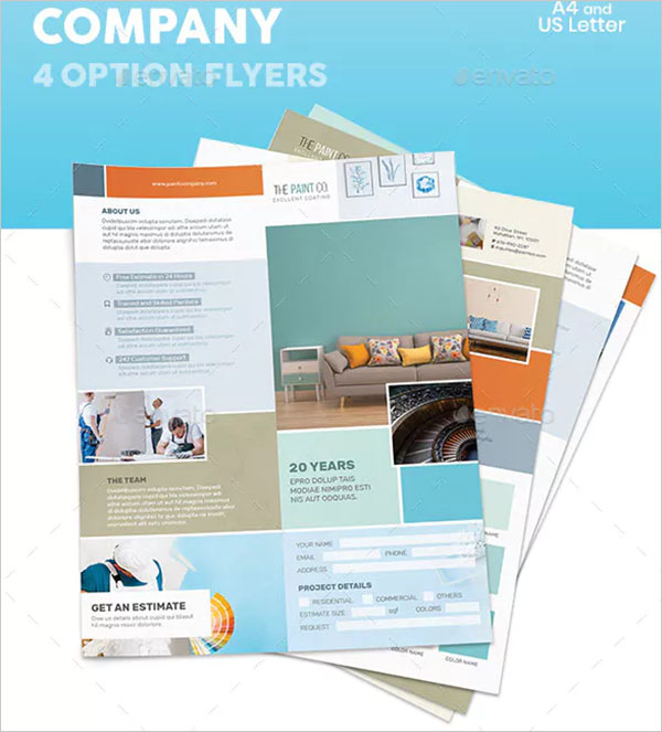 Paint Company Flyers Options