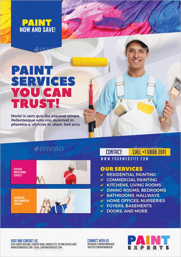 Paint Contractor Flyer Template