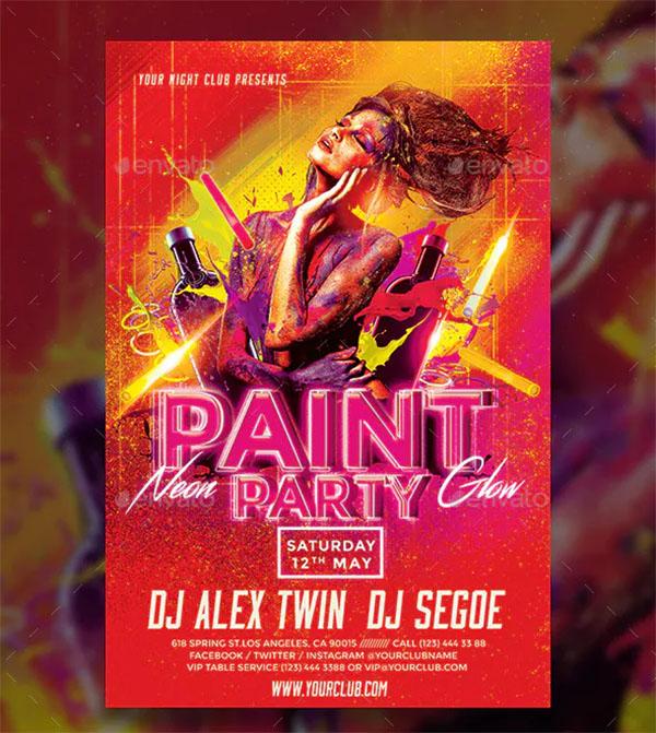 Paint Party Flyer Template Design