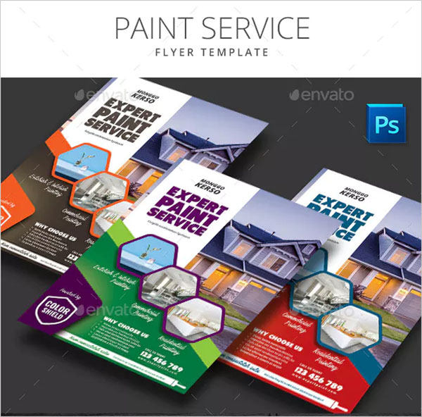 Paint Service Flyer Template