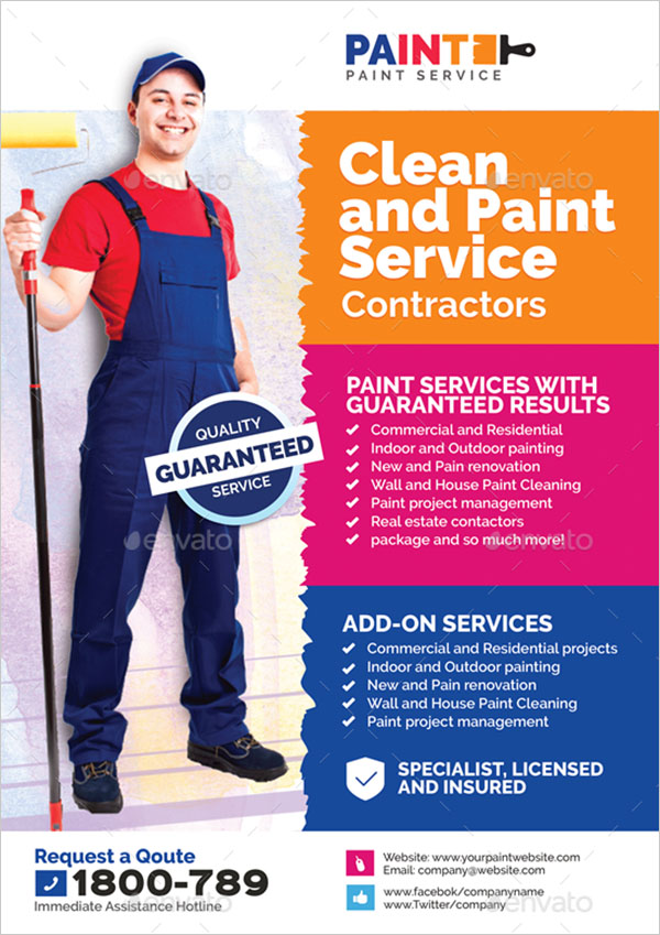 Paint Service and Maintenance Flyer