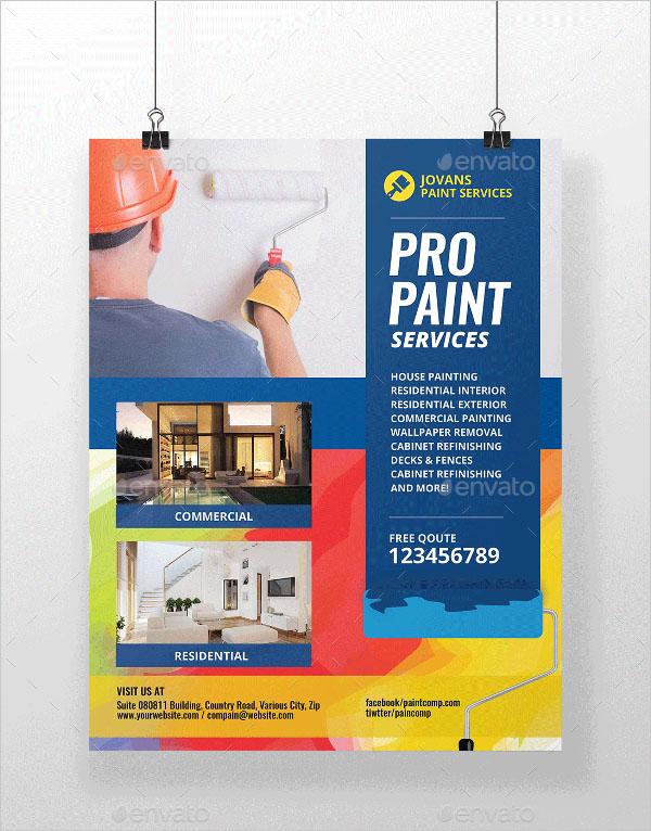 Paint Services Flyer Template