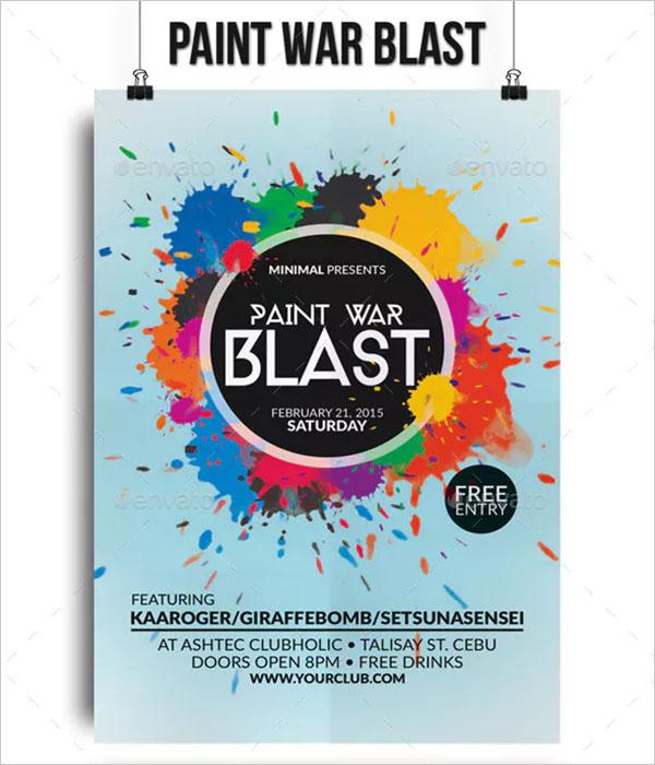 Paint War Blast Flyer Template