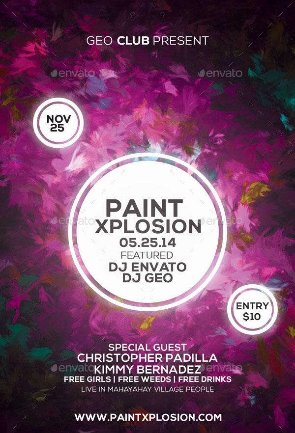 Paint Xplosion Flyer Template Design