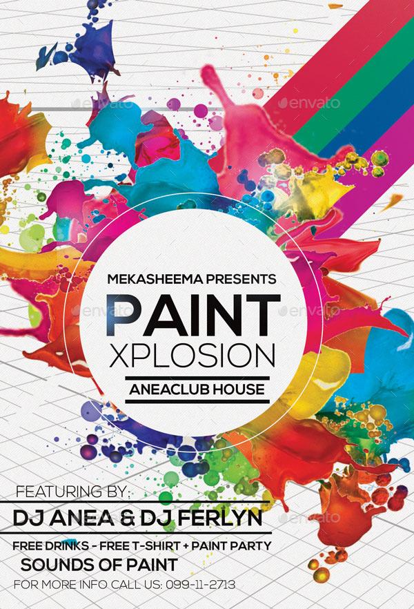 Paint Xplosion Flyer Template