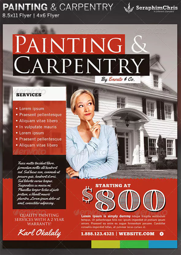 Painting & Carpentry Flyer Template