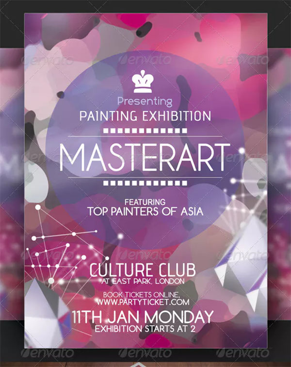 Painting Exhibition Flyer