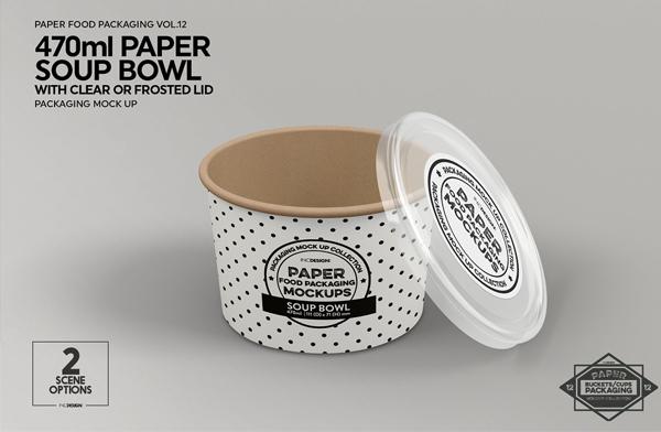 Paper Soup Bucket Mockup