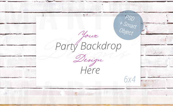 Party Wall Poster Banner Mockup