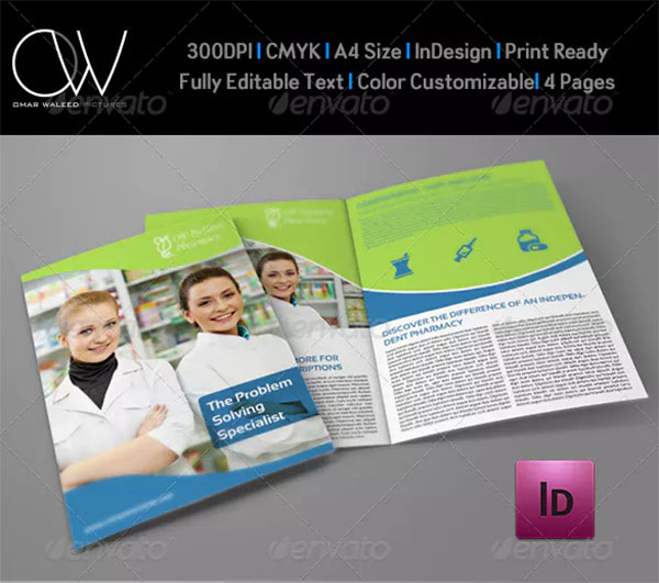 Pharmacy Brochure Bi-Fold Template