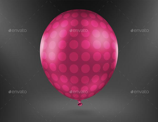 Photorealistic Balloon Mockup