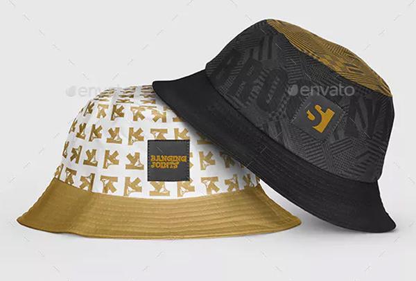 Photorealistic Bucket Hat Mockup