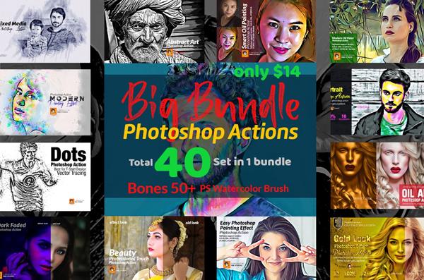 Photoshop Actions Big Bundle