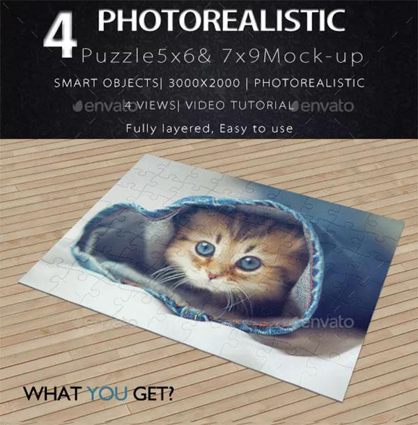 Photoshop Puzzle Mockup