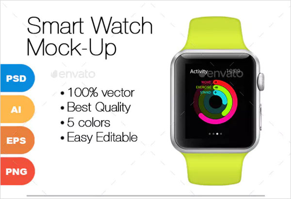 Photoshop Smart Watch Mock-Up