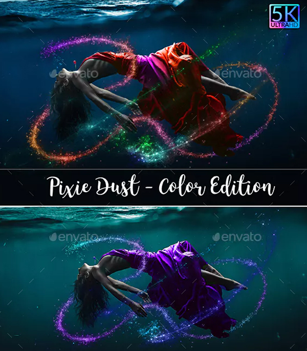 Pixie Dust Color Photoshop Overlays