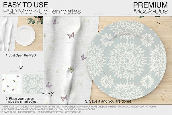 Plates & Tablecloth Set
