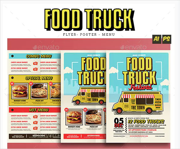 Pop Art Food Truck Menu