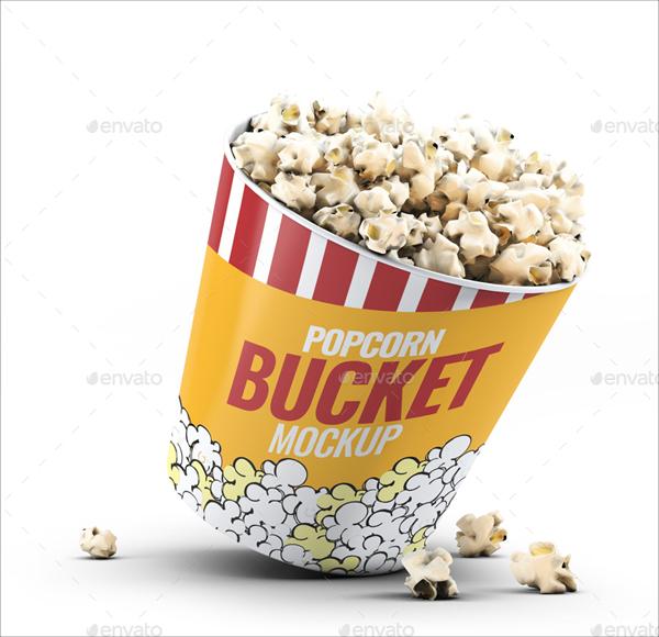 Popcorn Bucket & Cup Mock-Up