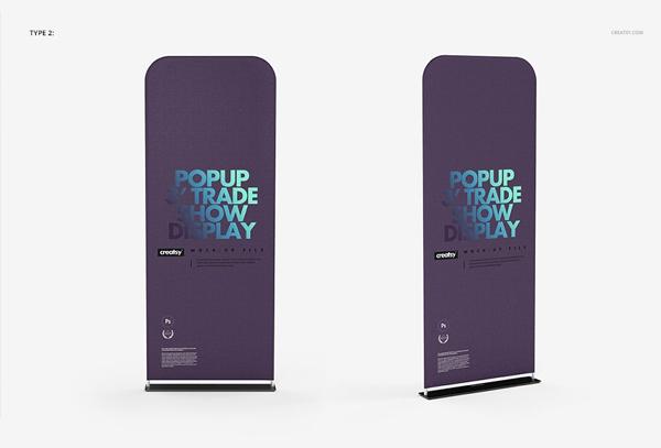 Portable Trade Show Display Banner Mockup Set