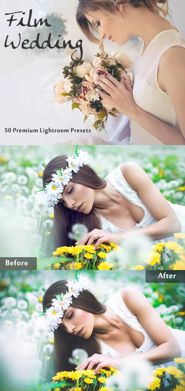 Premium Film Wedding Lightroom Presets