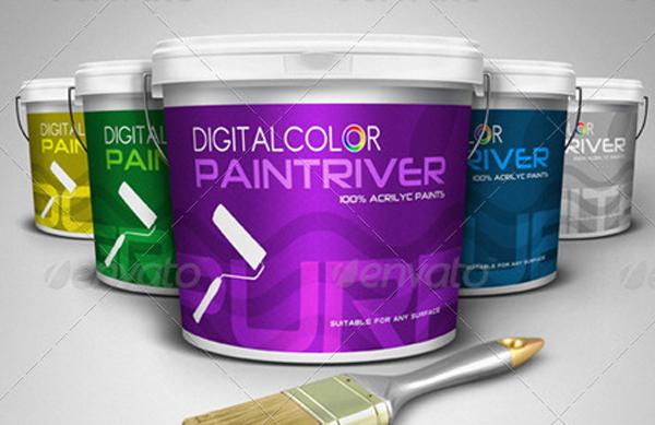 Premium Paint Bucket Mockup