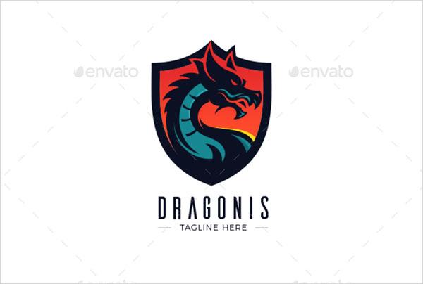 Print Dragon Logo Design