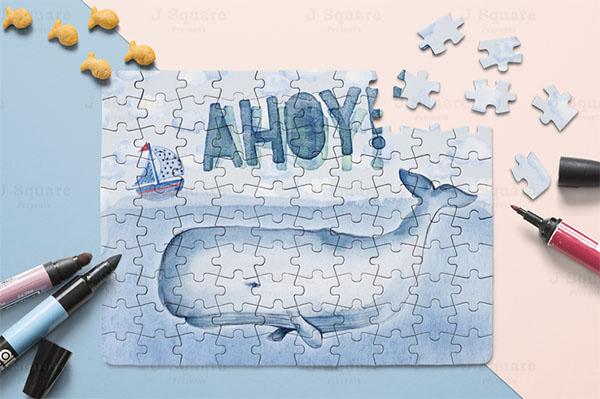 Print Puzzle Mockup