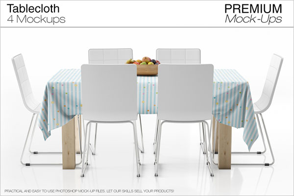 Print Tablecloth Mockup Set