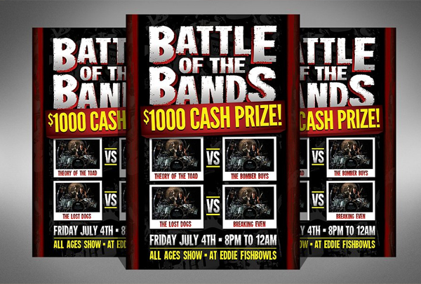 Printable Battle of the Bands Flyer