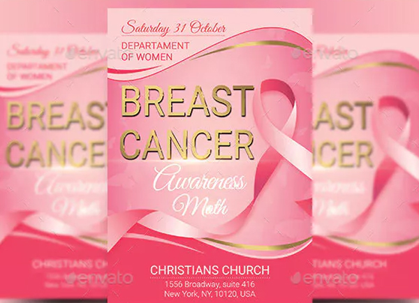 Printable Breast Cancer Flyer Template