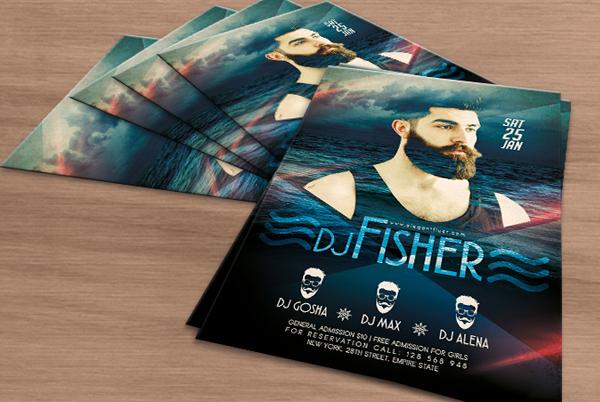 Printable Free Download DJ Fisher Flyer
