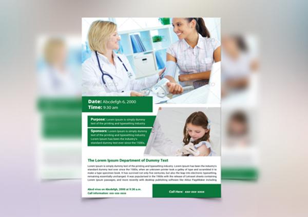 Printable Health Awareness Flyer Template