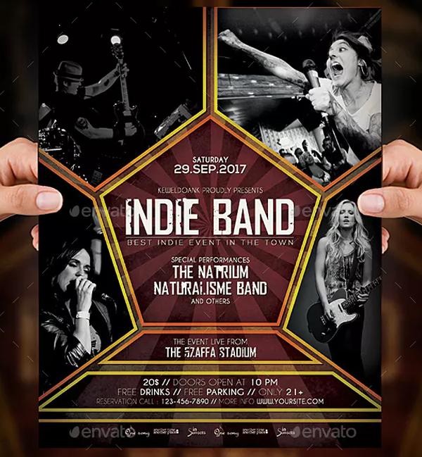 Printable Band Flyer & Poster