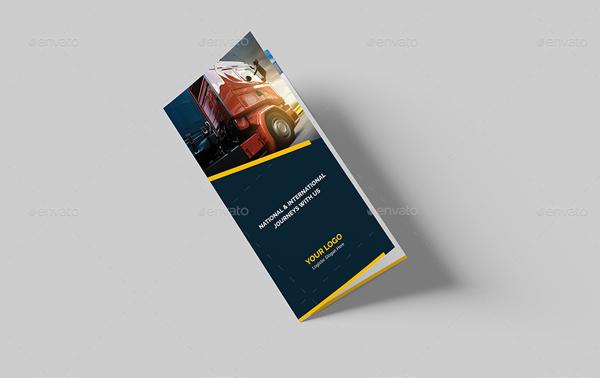 Printable Logistic Bi-Fold Brochure