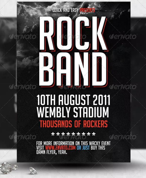 Printable Rock Band Flyer Template