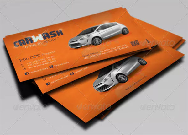 Professional Car Wash Business Card Template