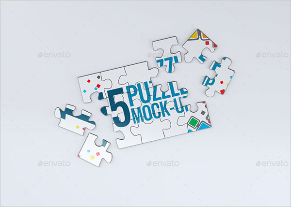 Puzzle 15 Pieces Mock-Up