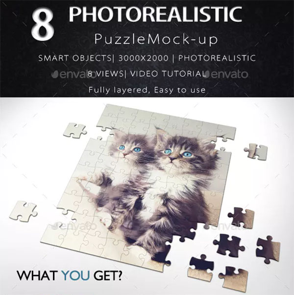 Puzzle PSD Mock Up